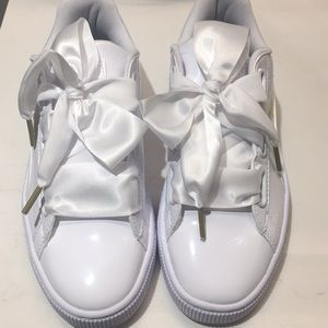 Puma White Patent Leather Runners Brand New